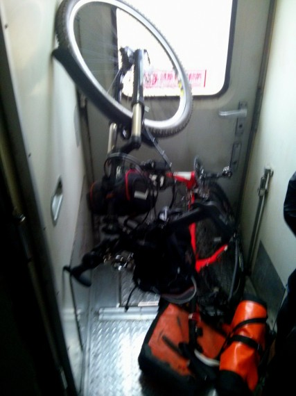 Bicycle in train
