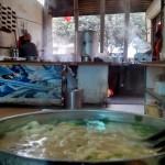 Goat-meat wheat noodles