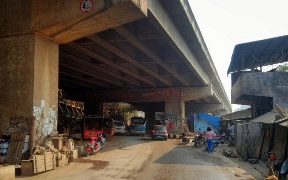Highways above, business continues below