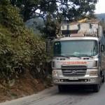 Overloaded Vietnamese truck