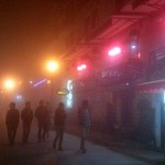 Fog in Sapa's foreigner street