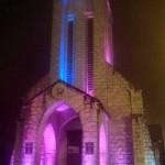 Sapa church at night
