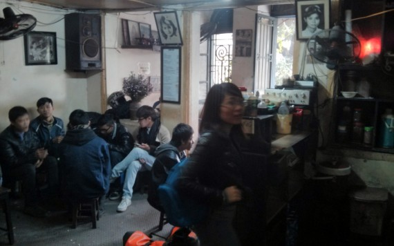 Famous coffee joint north of Hoan Kiem lake