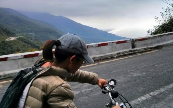Battling up the Hai Van pass