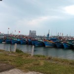 Boats at Da Nang harbour