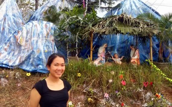 Vietnamese Christmas cave crib