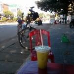 Sugarcane juice at Plei Kan