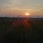 The sun setting over the Kon Tum plateau