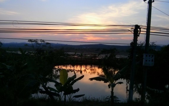 The sun setting over the Kon Tum plateau