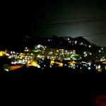 Lüchun's city lights at dark