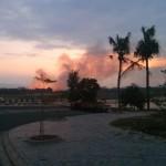 Some forest fire near Kontum