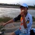 The Tutin eating the ice cream