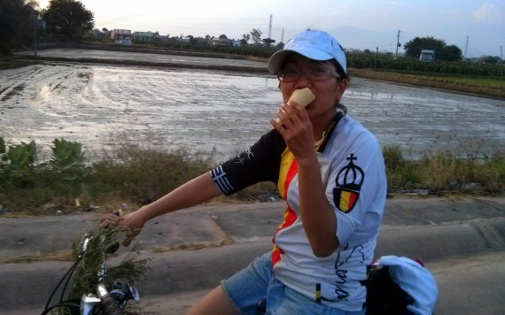 The Tutin consuming some ice cream