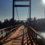 The Tutin crossing a bridge