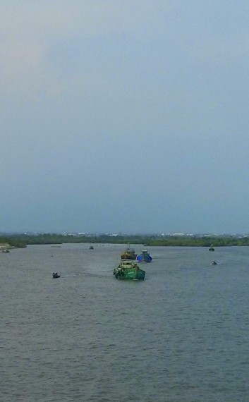 Trawlers coming our way just before Vung Tau