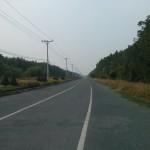 The three-lane road to Saigon, hardly any traffic