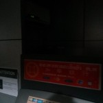 Hard to see, but this tiny ATM booth had air-con inside
