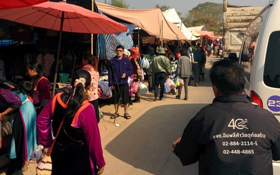 Market day = traffic jam