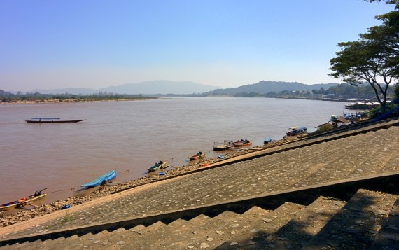 Lunch spot on the Mekong