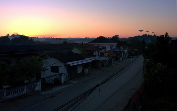 Sunrise over Huay Xai