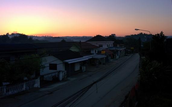 Sunrise over Huay Xai