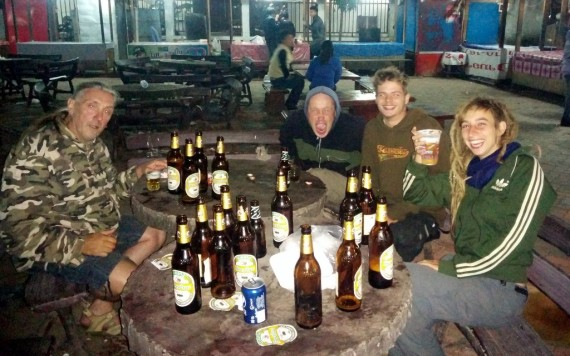 The Belgians: Danny, Edward, Niels and Ine. Ludo already went to bed and Jan stayed in Thailand.