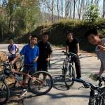 Colourful Yunnan: two Dai, two Yi, One Yao and one Hani.