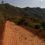 And then some more dirt road. At least this is better than cobbles.