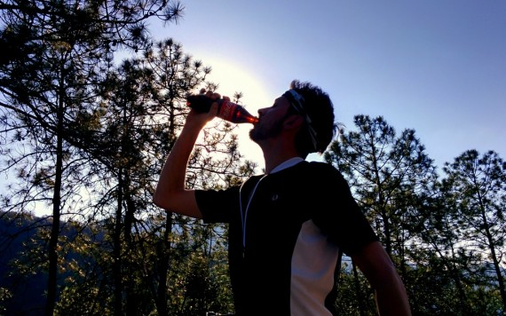 Pete doing a Coca-Cola ad