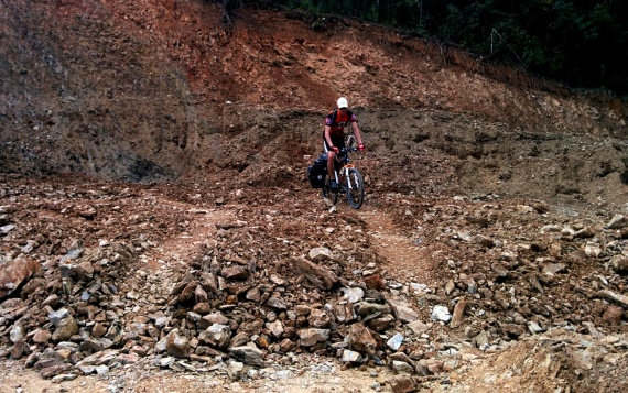 Little downhill section
