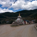 Tibetan chorten, or stupa. They usually serve as shrines and sometimes as tombs.