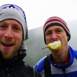 I promised Sandy that he could eat his pear if he pushed on another 2 km