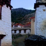 The monastery and its surrounding living quarters